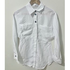 Mango White Dress Shirt
